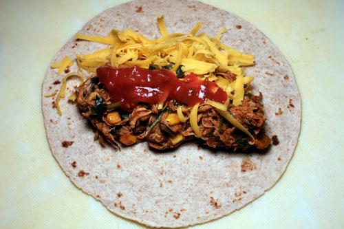 Leftover Turkey (or Chicken) Enchilada Filling