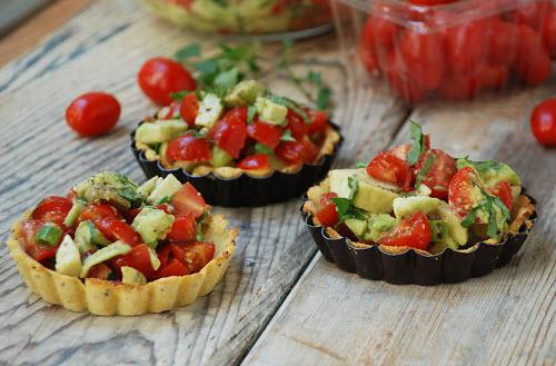 Tomato Avocado Tarts