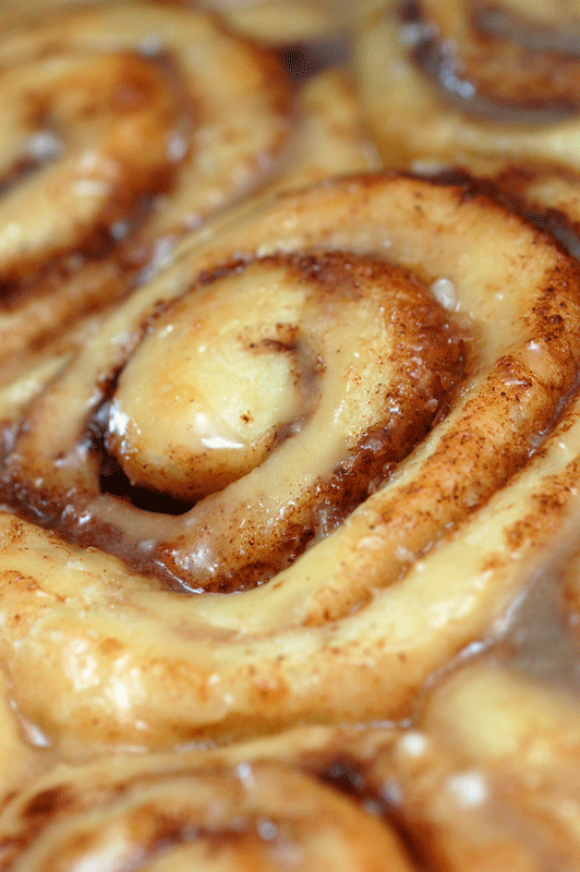 Easy Homemade Cinnamon Rolls Tins of cinnamon rolls.
