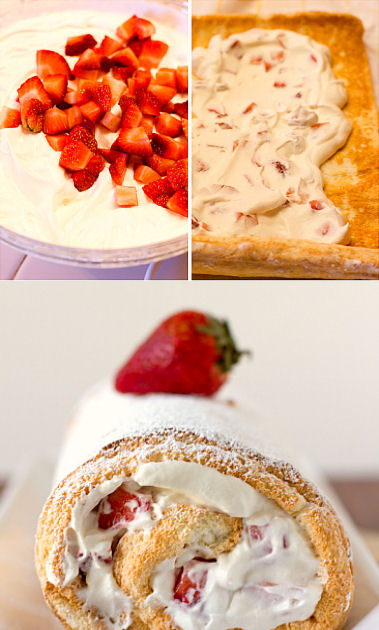 Strawberry-Cream Angel Food Cake Recipe — Dishmaps