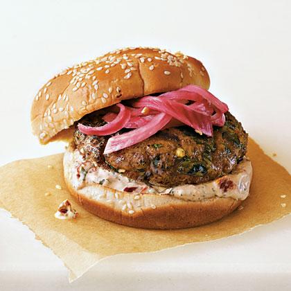 spicy-poblano-burgers-onions-cream