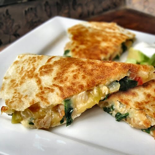 Chicken-Spinach-And-Cannellini-Bean-Quesadillas