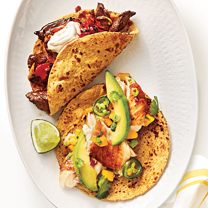 Steak-and-Charred-Vegetable-Tacos