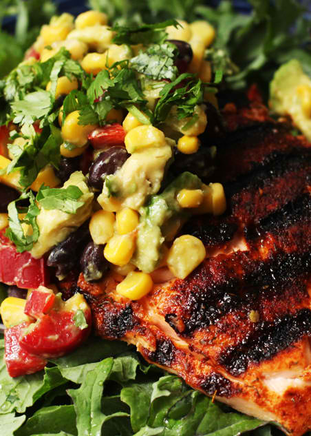 Corn-Salsa-Over-Grilled-Salmon-Recipe