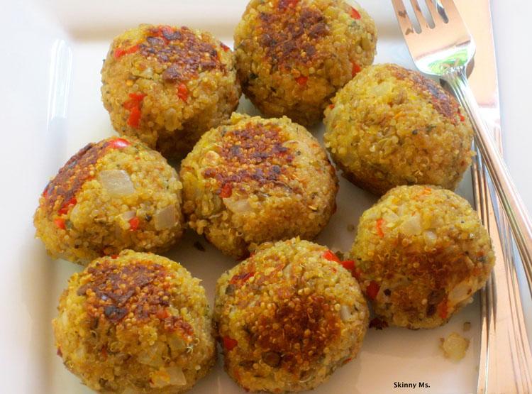 Quinoa-(Meatless)-Meatballs
