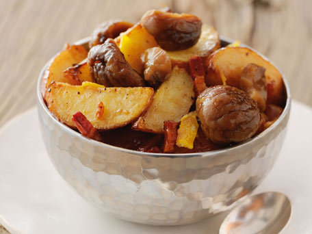 Chestnut-Confit-with-Roasted-Potatoes-Bacon-and-Kumquats