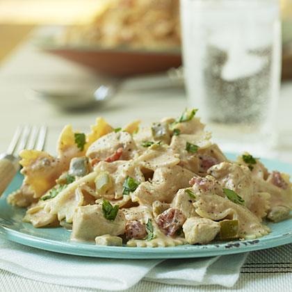 Mexican-Bow-tie-Pasta-with-Chicken