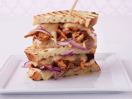 Pulled-Barbecued-Chicken-Panini