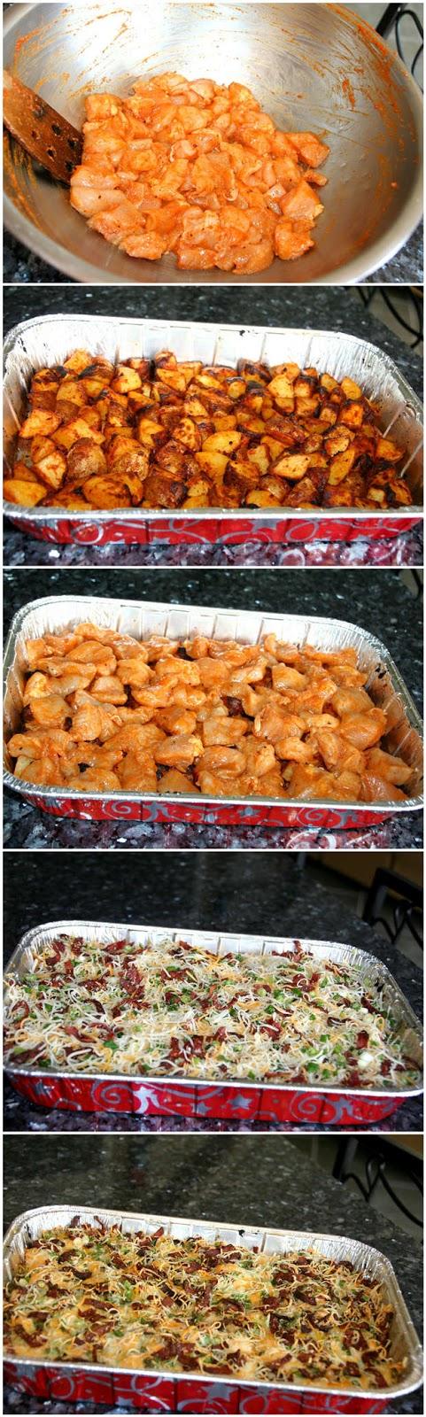 Slimmed-Down-Loaded-Potato-and-Buffalo-Chicken-Casserole