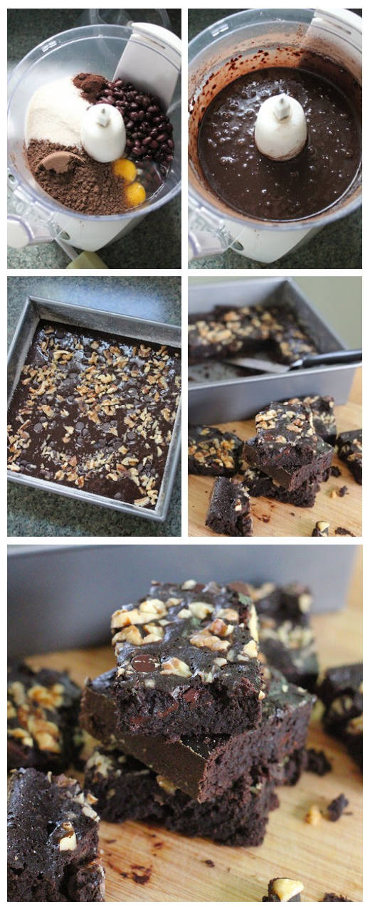 Dark Chocolate Black Bean Brownies Recipe