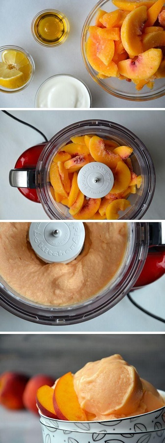 5 Minutes-Healthy-Peach-Frozen-Yogurt-Recipe