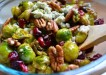 Pan-Seared Brussels Sprouts with Cranberries & Pecans